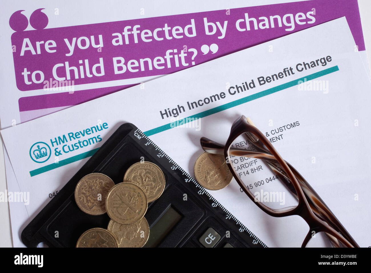 Child Benefit Form Roi Child Benefit Form High Income High income child benefit charge form Stock Photo