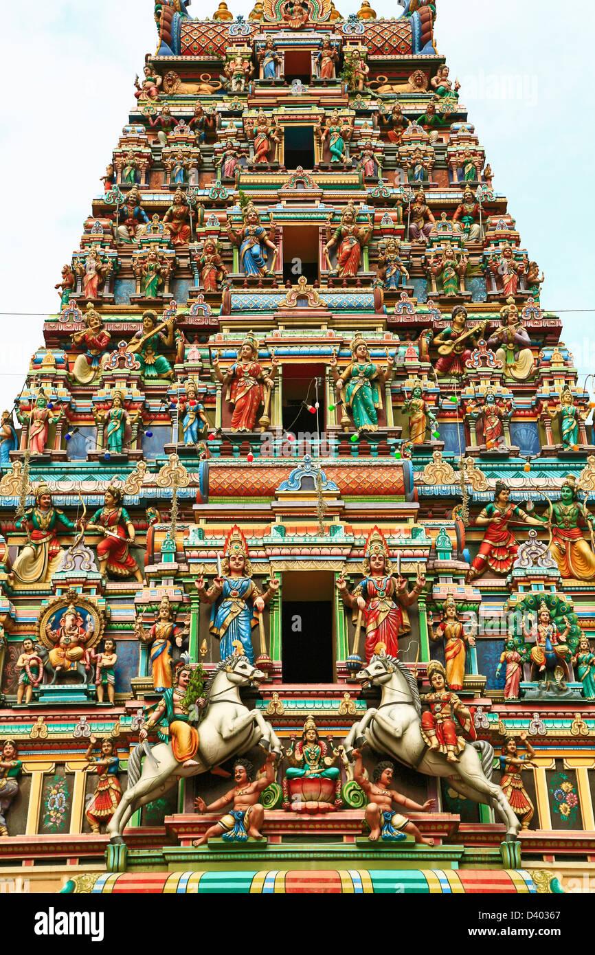 Malaysia Kuala Lumpur Chinatown Sri Mahamariamman Hindu Temple