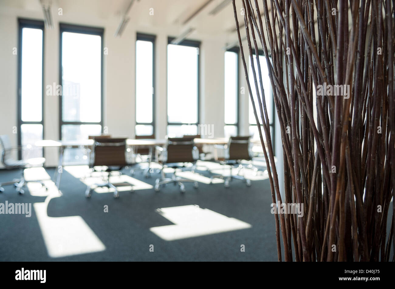 Eames Interior office interior with eames office chairs stock photo, royalty free