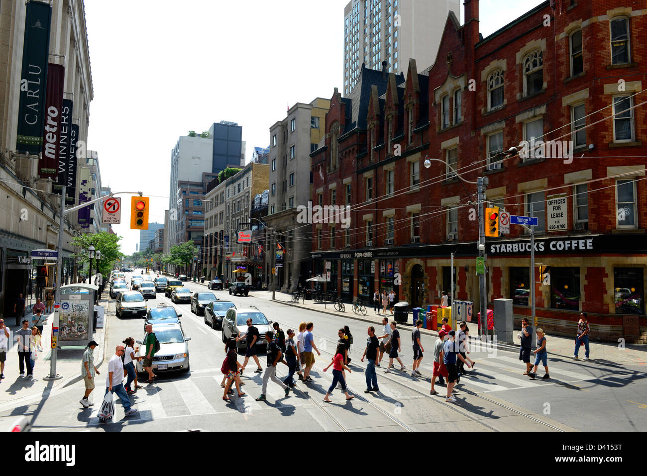 Toronto Eaton Centre. Start your day off at one of the city's most iconic shopping hubs – Toronto Eaton distrib-wjmx2fn9.gaiently located downtown on Yonge Street between Queen and Dundas, this stylish mall is a Toronto landmark.
