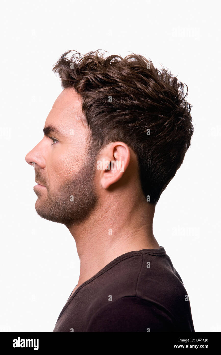 Male facial side profile