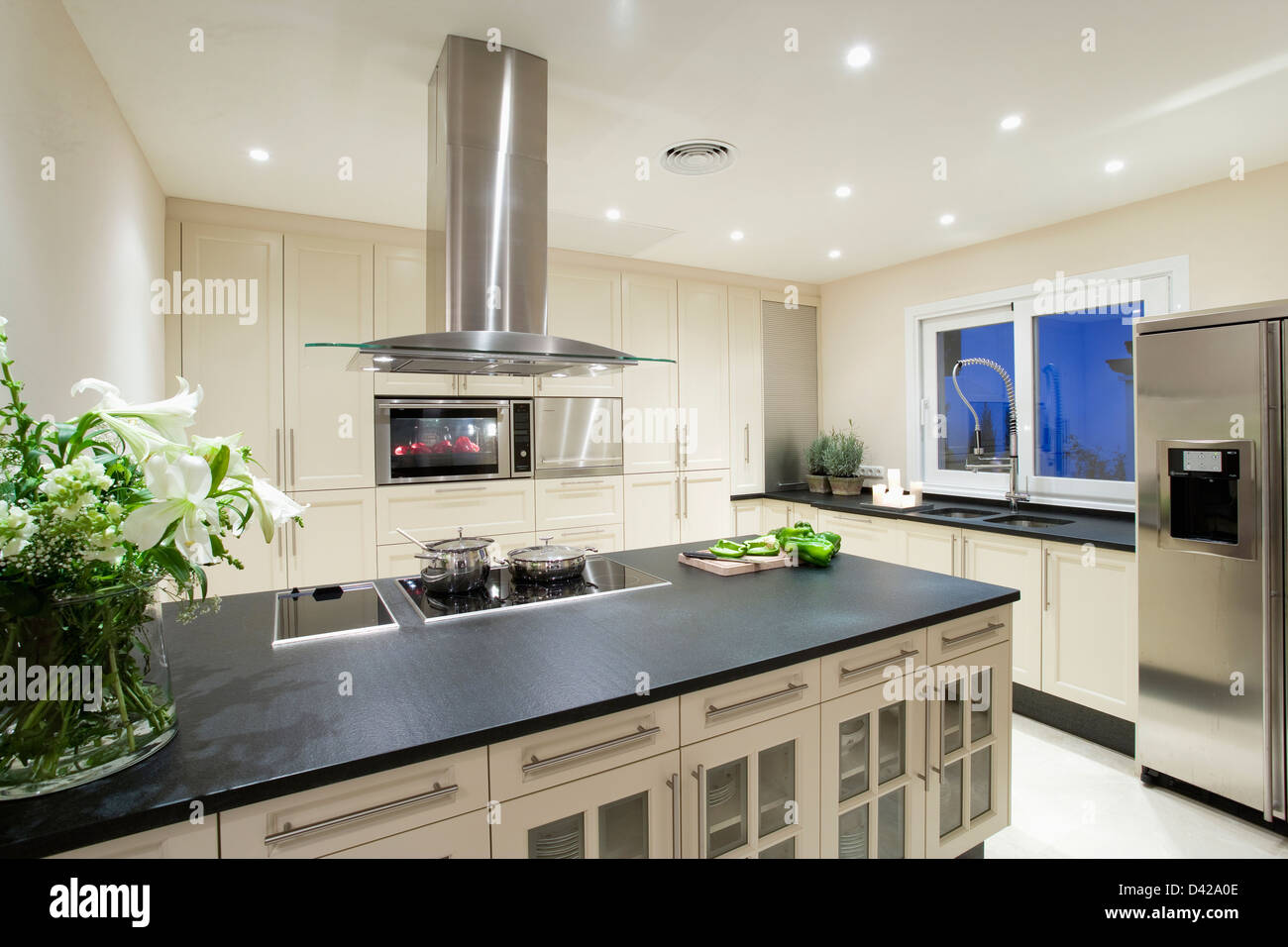 Kitchen Island Extractor fine kitchen island hob installed on with overhead extractor in