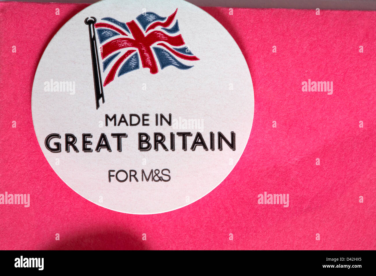 Made in great britain for ms sticker on cellophane wrapper of made in great britain for ms sticker on cellophane wrapper of greetings card kristyandbryce Image collections