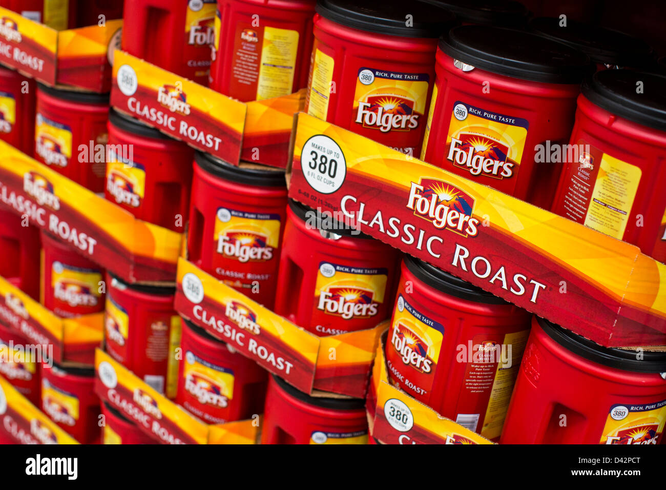 folgers coffee stock photos folgers coffee stock images alamy folgers coffee on display at a costco whole warehouse club stock image
