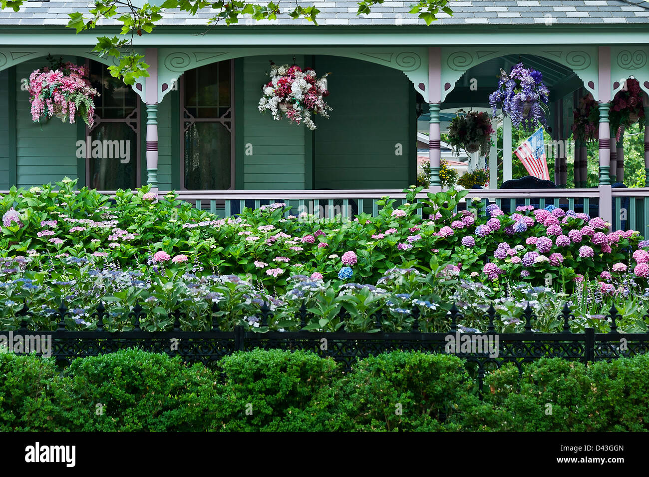 Victorian house and gardens cape may nj usa stock photo for Victorian garden house