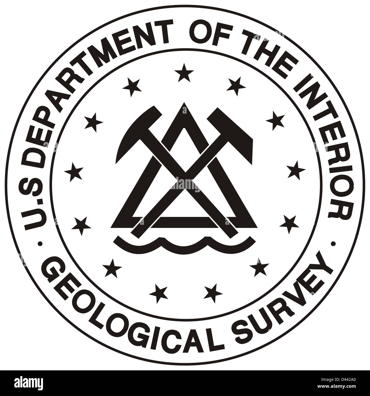 United States Department Of The Interior Geological Survey Seal Stock Photo Royalty Free Image