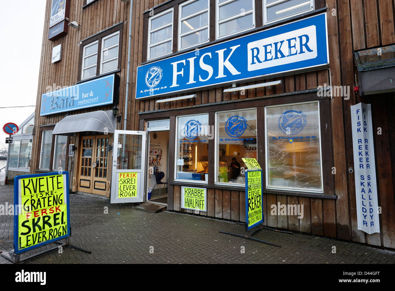 Fresh fish store fishmonger in market square tromso troms for Fresh fish store