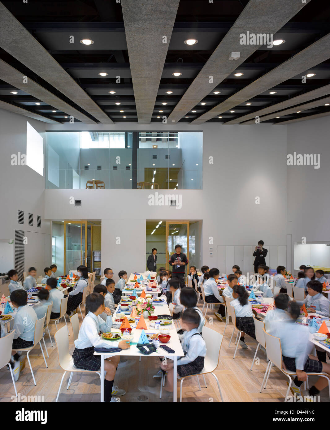 Teikyo University Elementary School Tokyo Japan Architect Kengo Kuma 2012 Interior View Overall In Dinning Hall Durin