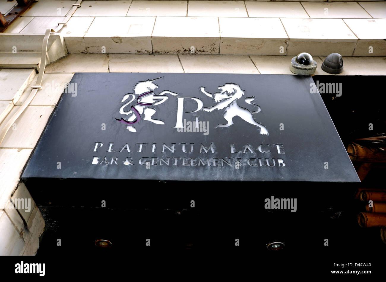 Platinum Lace Gentlemens Club and Bar Brighton UK Stock Photo ...
