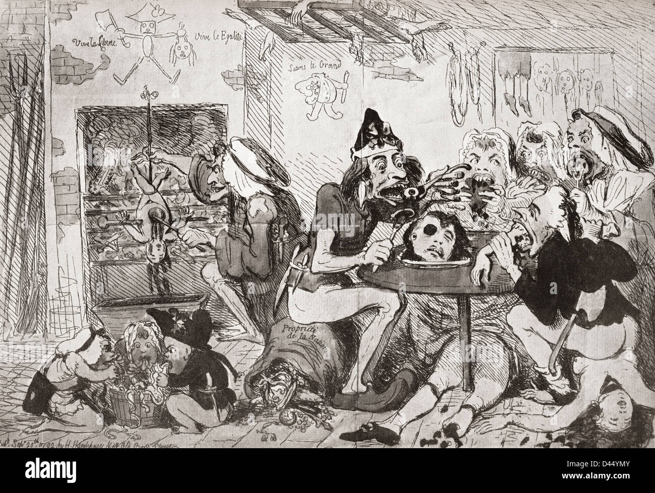 english cartoon during french revolution a family of sans culottes stock photo royalty free. Black Bedroom Furniture Sets. Home Design Ideas