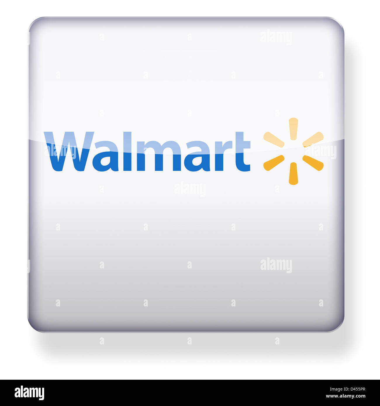 walmart logo as an app icon clipping path included stock