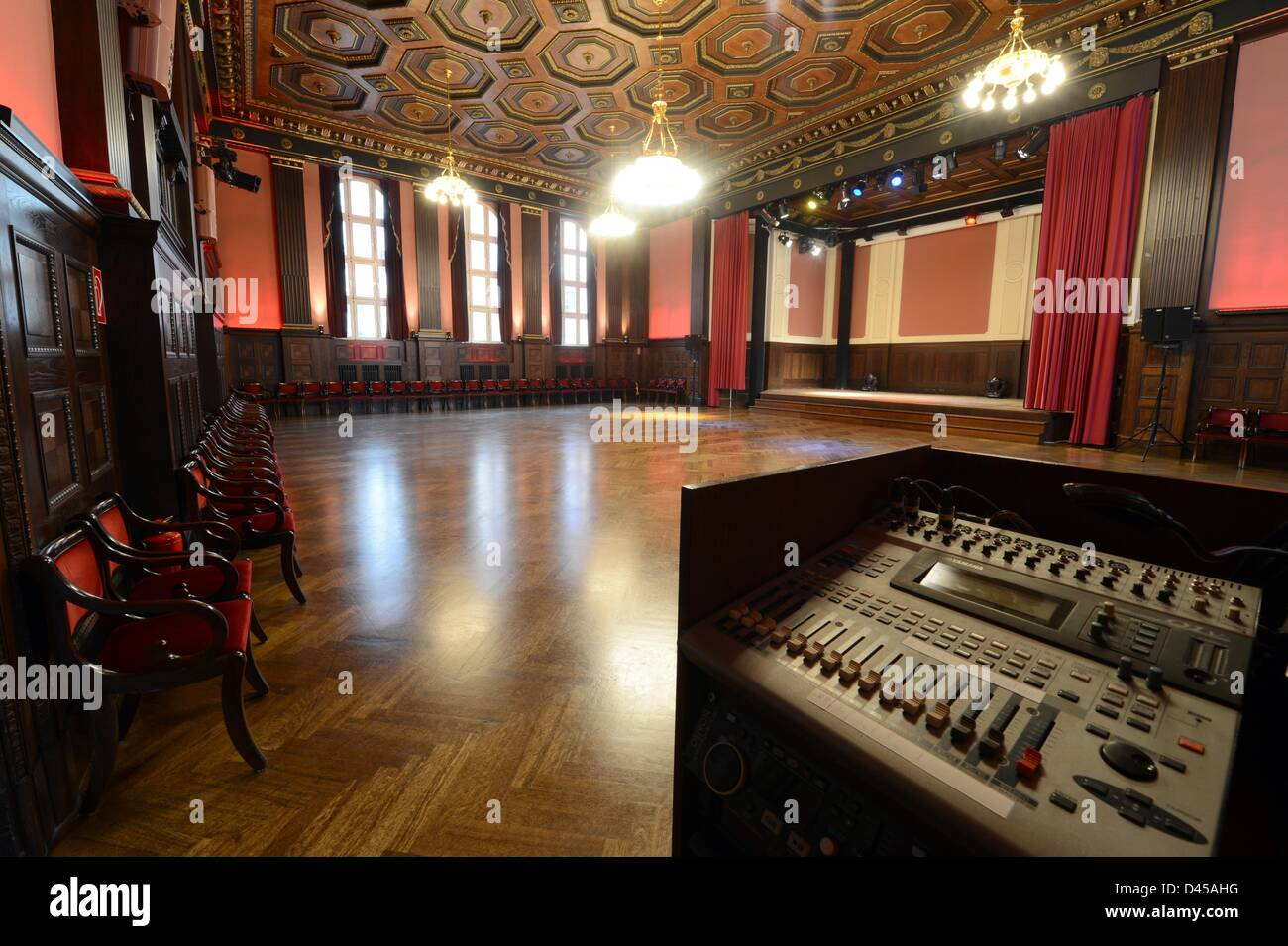 the interior of hansa studios where david bowie produced his music stock photo royalty free. Black Bedroom Furniture Sets. Home Design Ideas