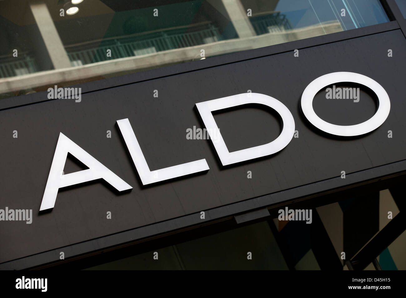 Sign for shoe shop aldo stock photo 54212849 alamy sign for shoe shop aldo buycottarizona Gallery