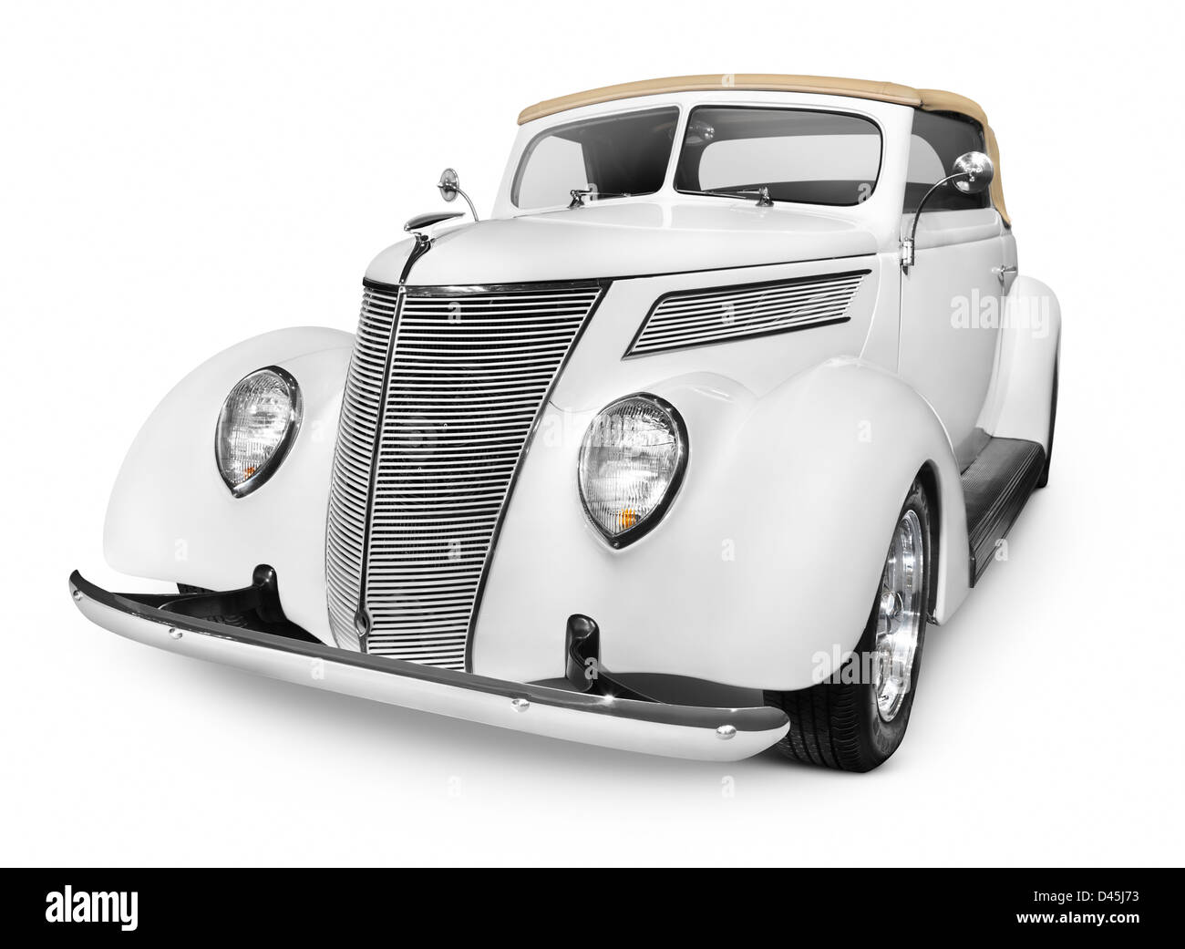 Ford Cabriolet Classic Convertible Vintage Car Isolated On