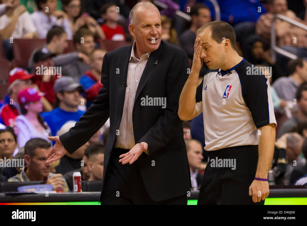 March 5 2013 Philadelphia 76ers head coach Doug Collins talks