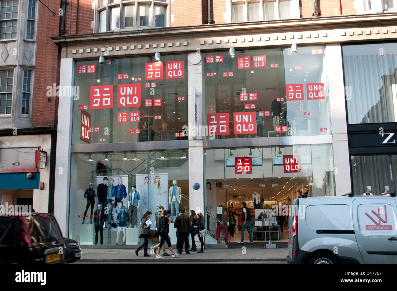 Uniqlo Store On Kensington High Street London Uk Stock