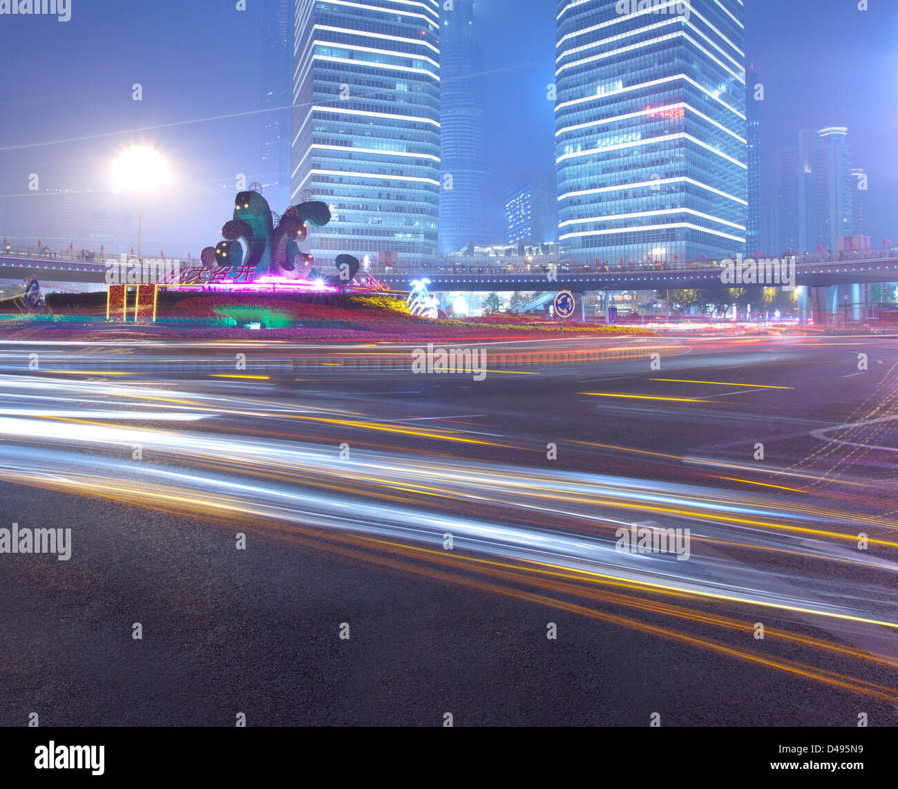 Background image rails - Stock Photo Car Lamp Light Rails With Modern Building Background In A Holiday Season
