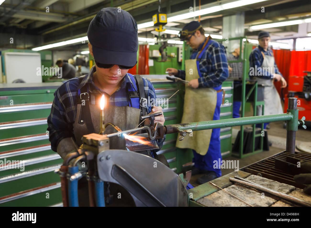 Berlin, Germany, Industrial Mechanic Apprentices In Welding ...