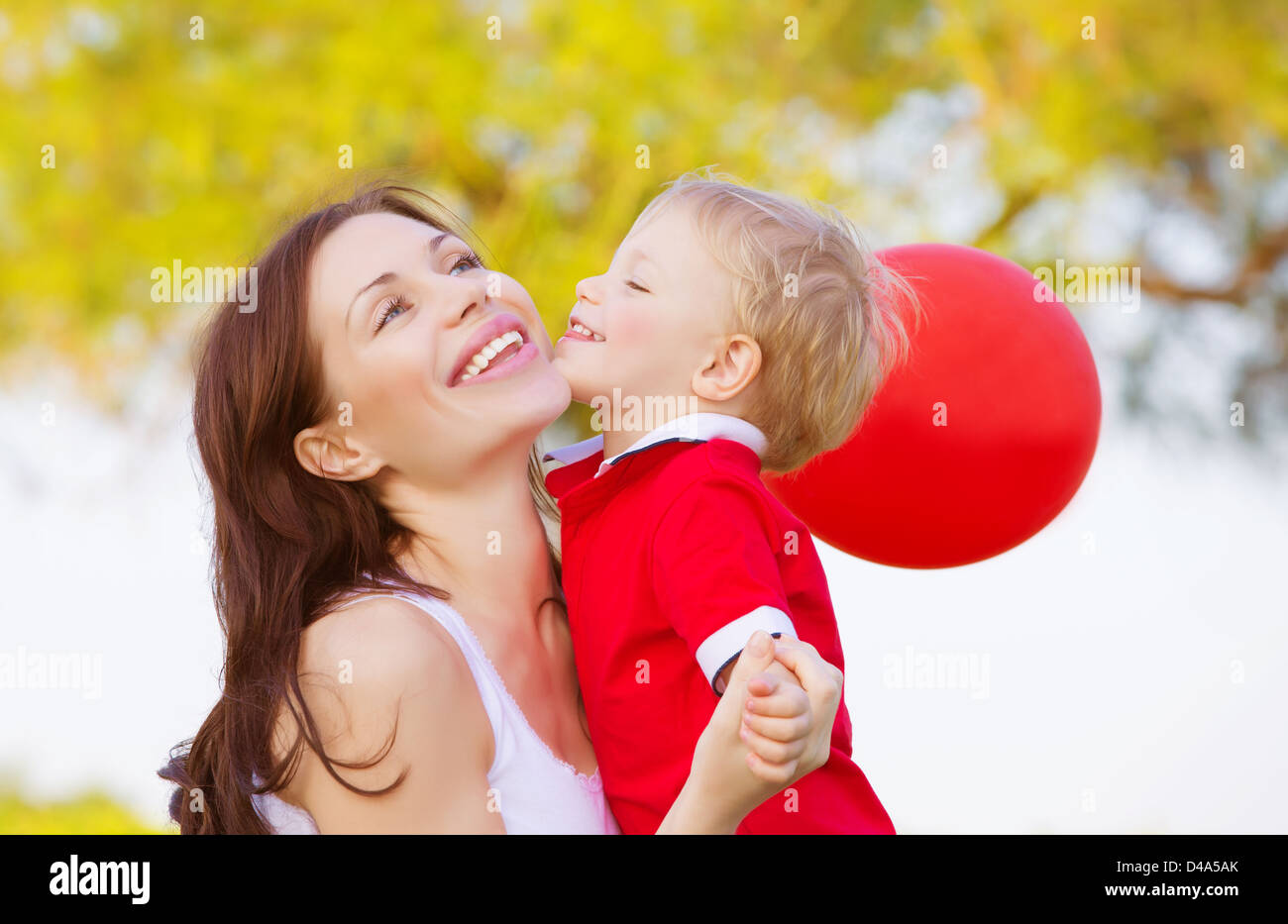 Little boy and girl kissing stock photos little boy and girl image of cute little boy kissing mom beautiful brunette woman with adorable child having fun thecheapjerseys Images