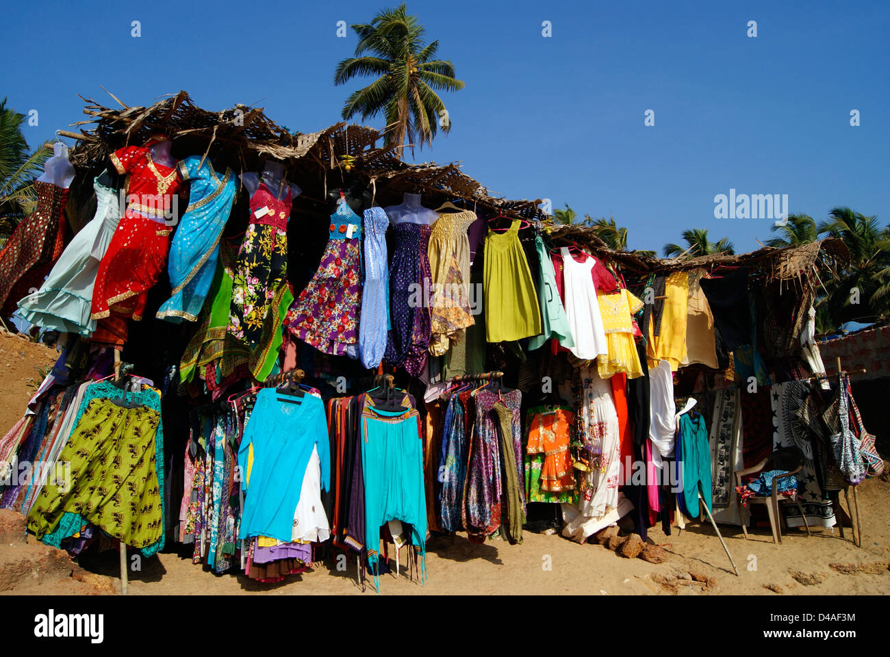 Clothes Shop for Womens Dresses on Flea market at Goa Anjuna Beach ...