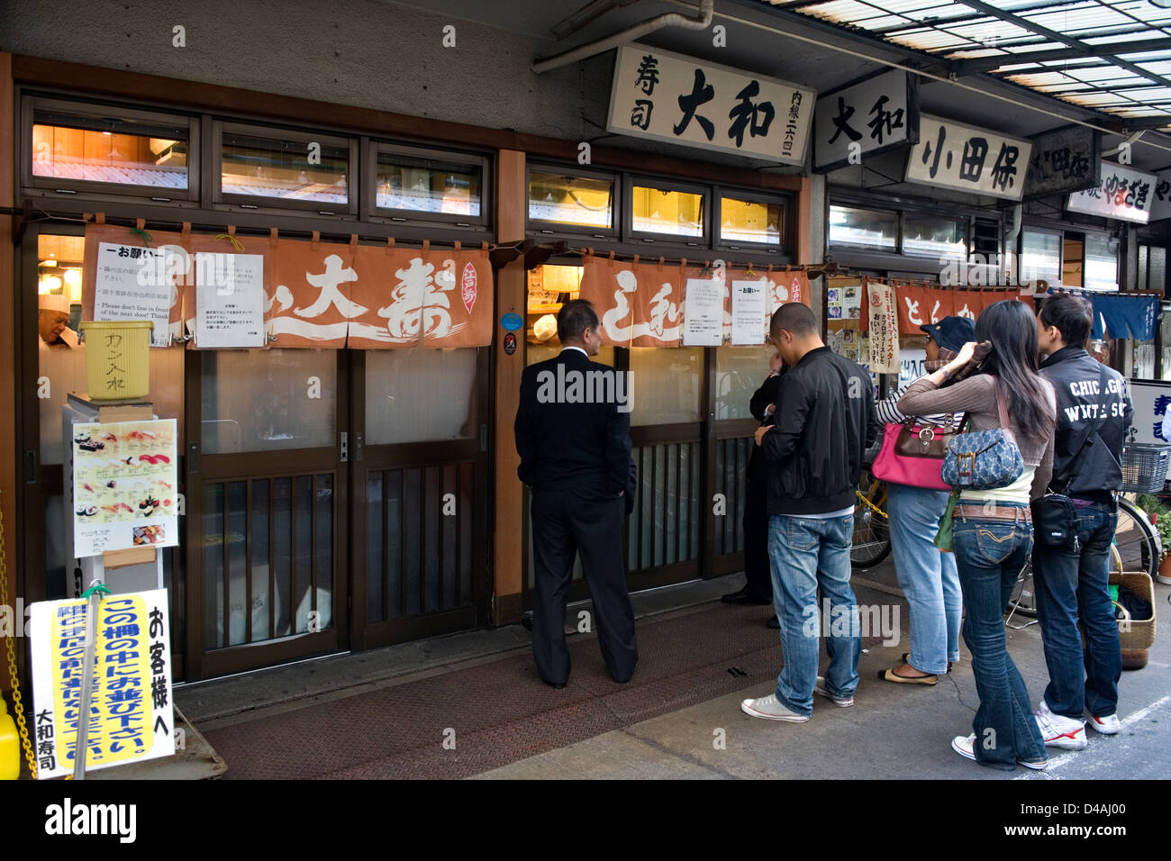 Lines form early in the morning for breakfast at sushi for Chinese fish market near me