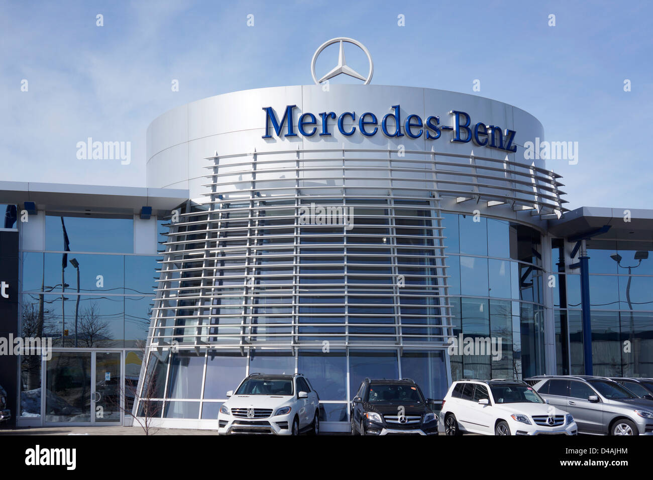 mercedes benz dealership ontario canada stock photo