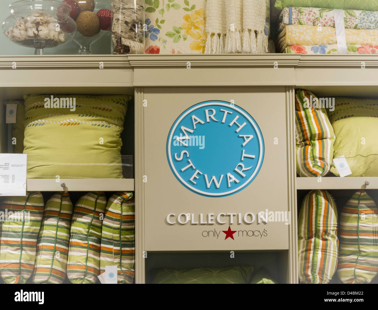 Dunelm Mill Kitchen Curtains Bedding Display At The Retail Store Stock Photo Royalty Free