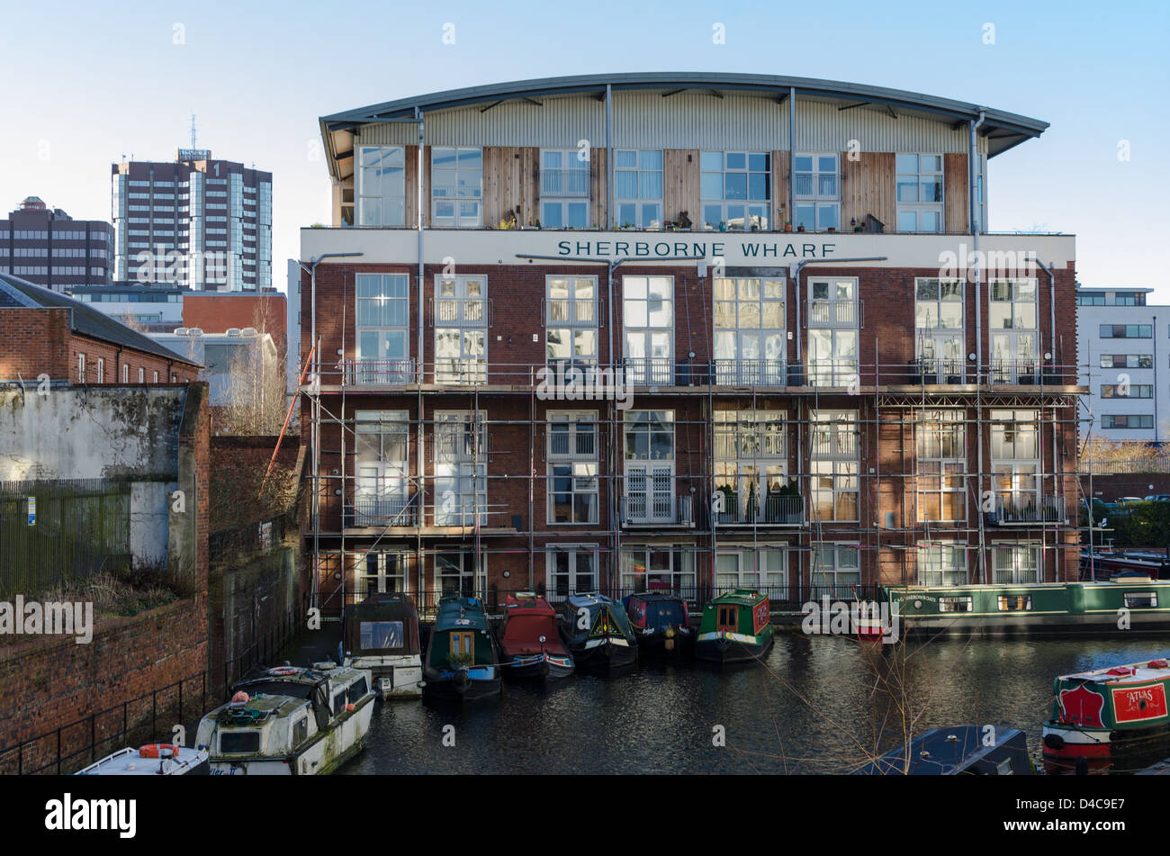 Sherborne Wharf Loft Appartments In Birmingham City Centre Stock Photo Royalty Free Image