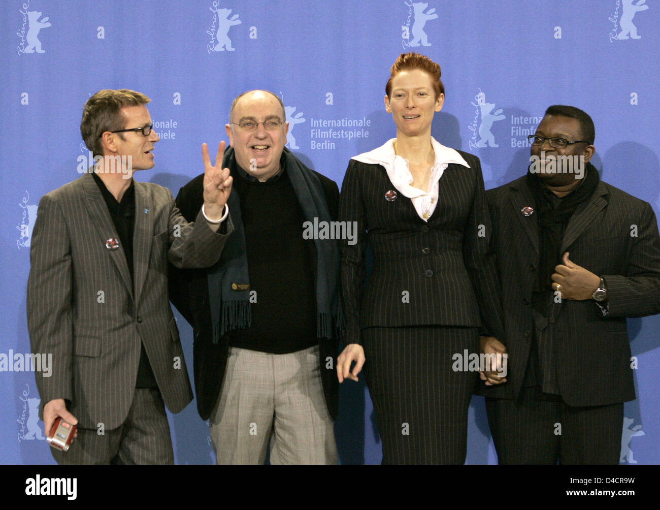 british actress tilda swinton 2 r music composer simon fisher turner l r executive producer james mackay and director isaac julien pose during the - Executive Producer Music