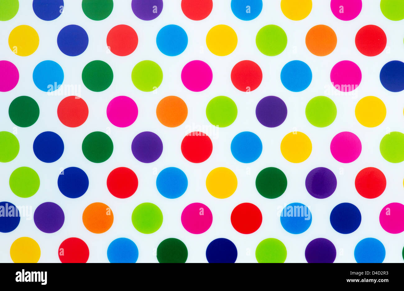 colourful dot pattern on white background stock photo