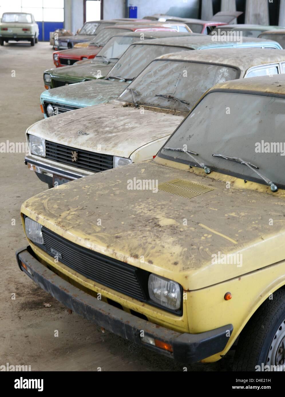 Car dealer Kjeld Soerensen sells old cars of the type Fiat and Stock ...
