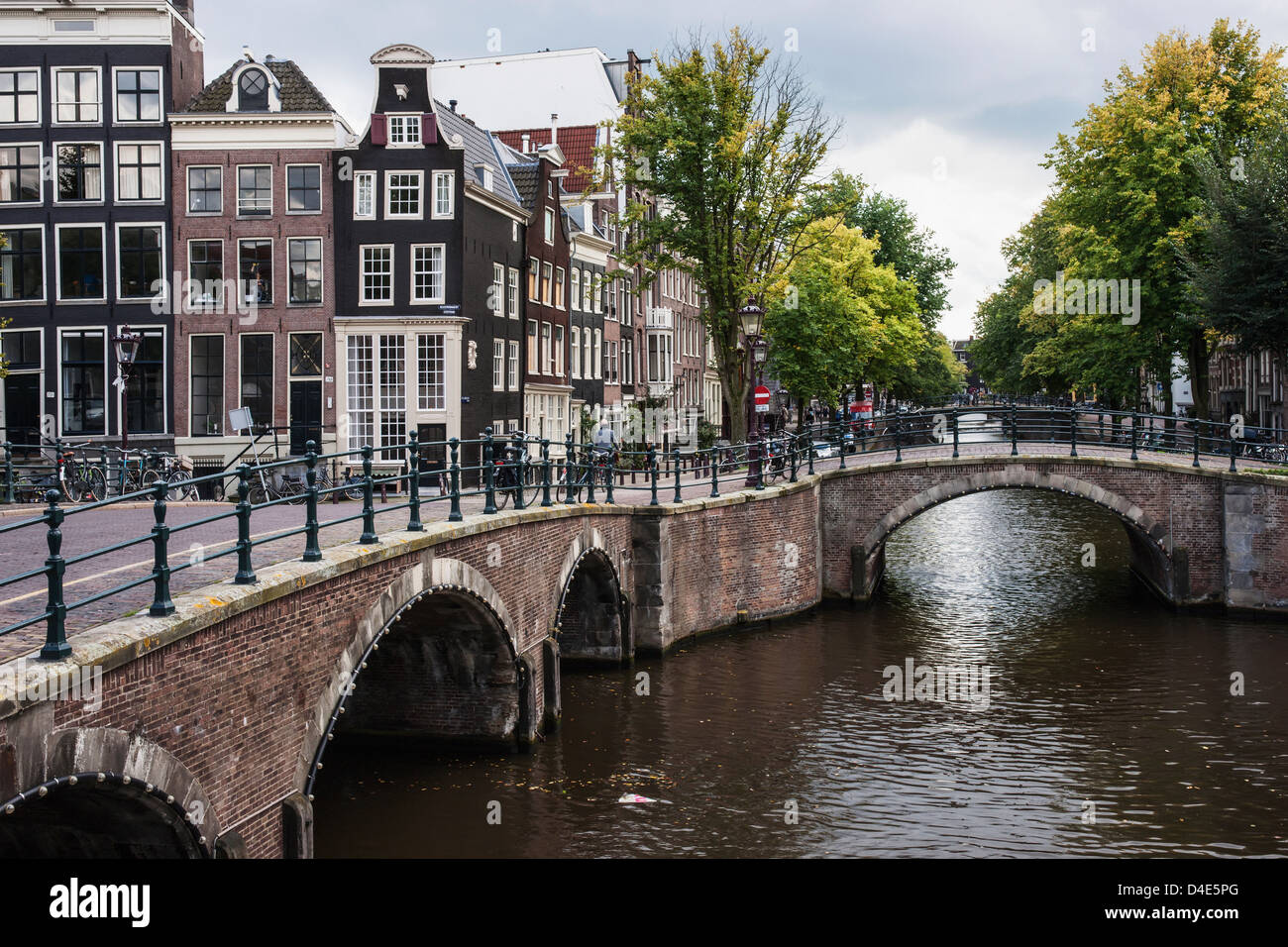 Canal bridges amsterdam netherlands stock photo royalty for Design bridge amsterdam