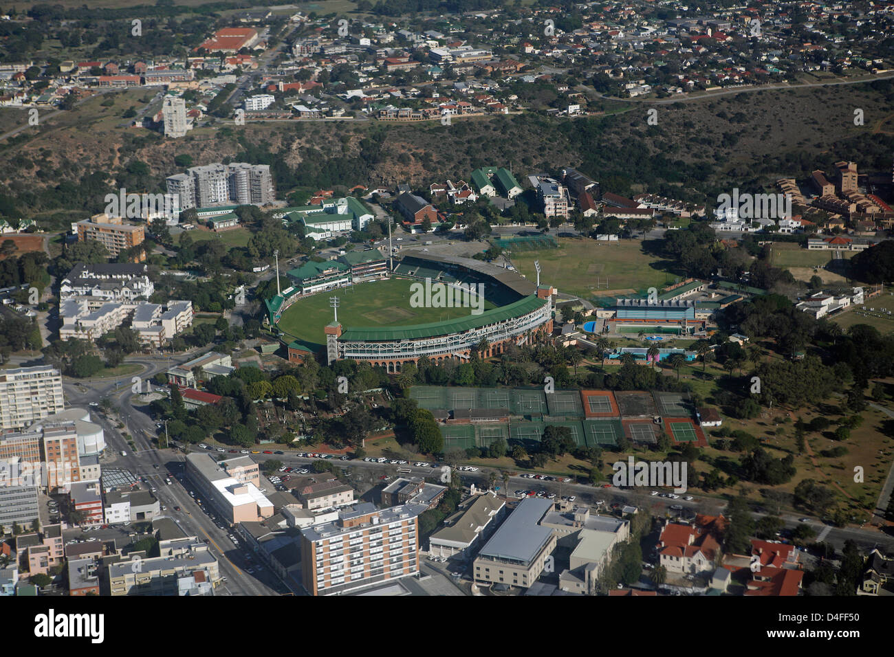 Aerial View Of St George S Park Cricket Ground Port Elizabeth Stock Photo Royalty Free Image