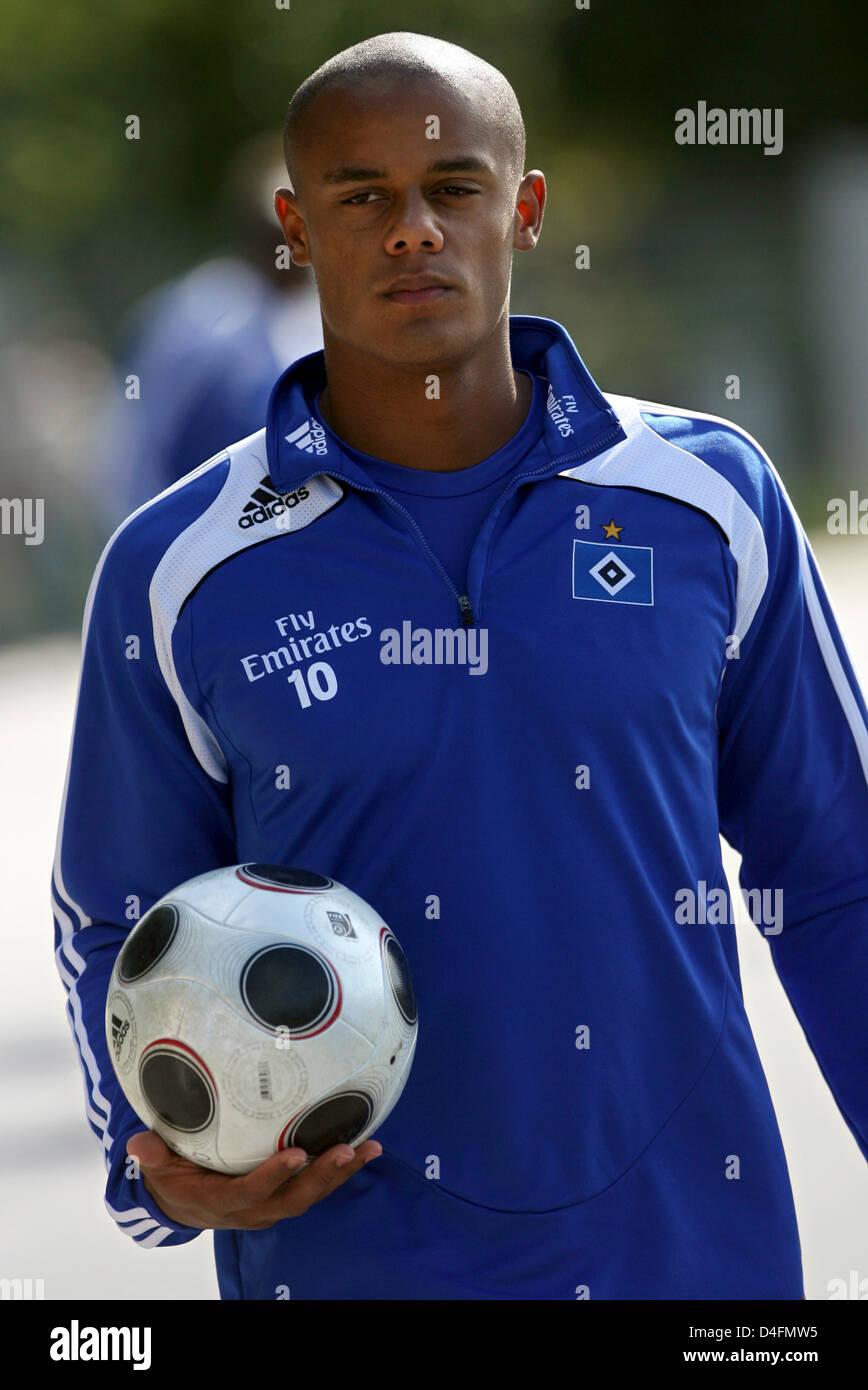 Vincent Kompany of German Bundesliga club Hamburg SV HSV arrives
