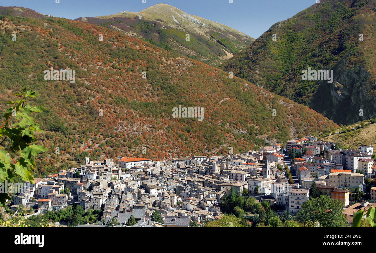 The Little Town Of Scanno Located Metres Above Sea Level - Metres above sea level