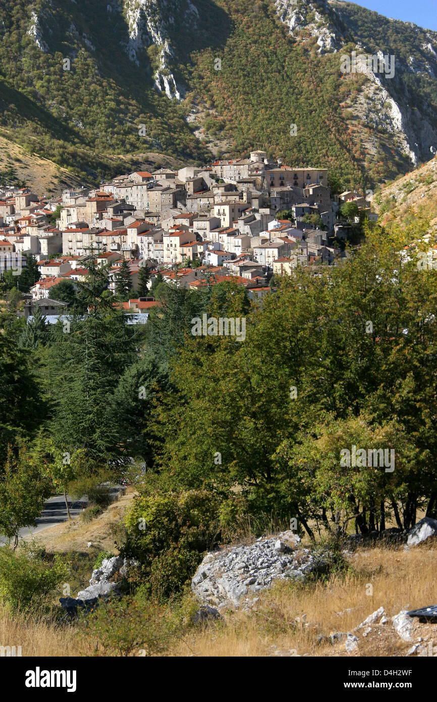 The Little Town Of Villalago Located Metres Above Sea Level - Metres above sea level