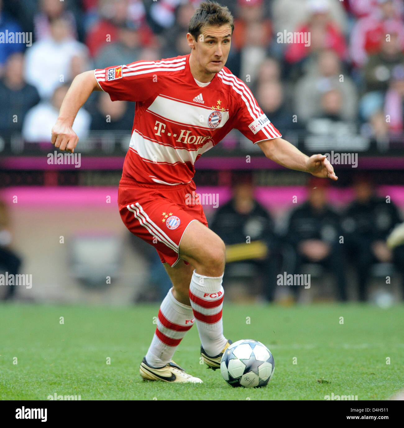 Miroslav Klose of FC Bayern Munich is shown in action during the