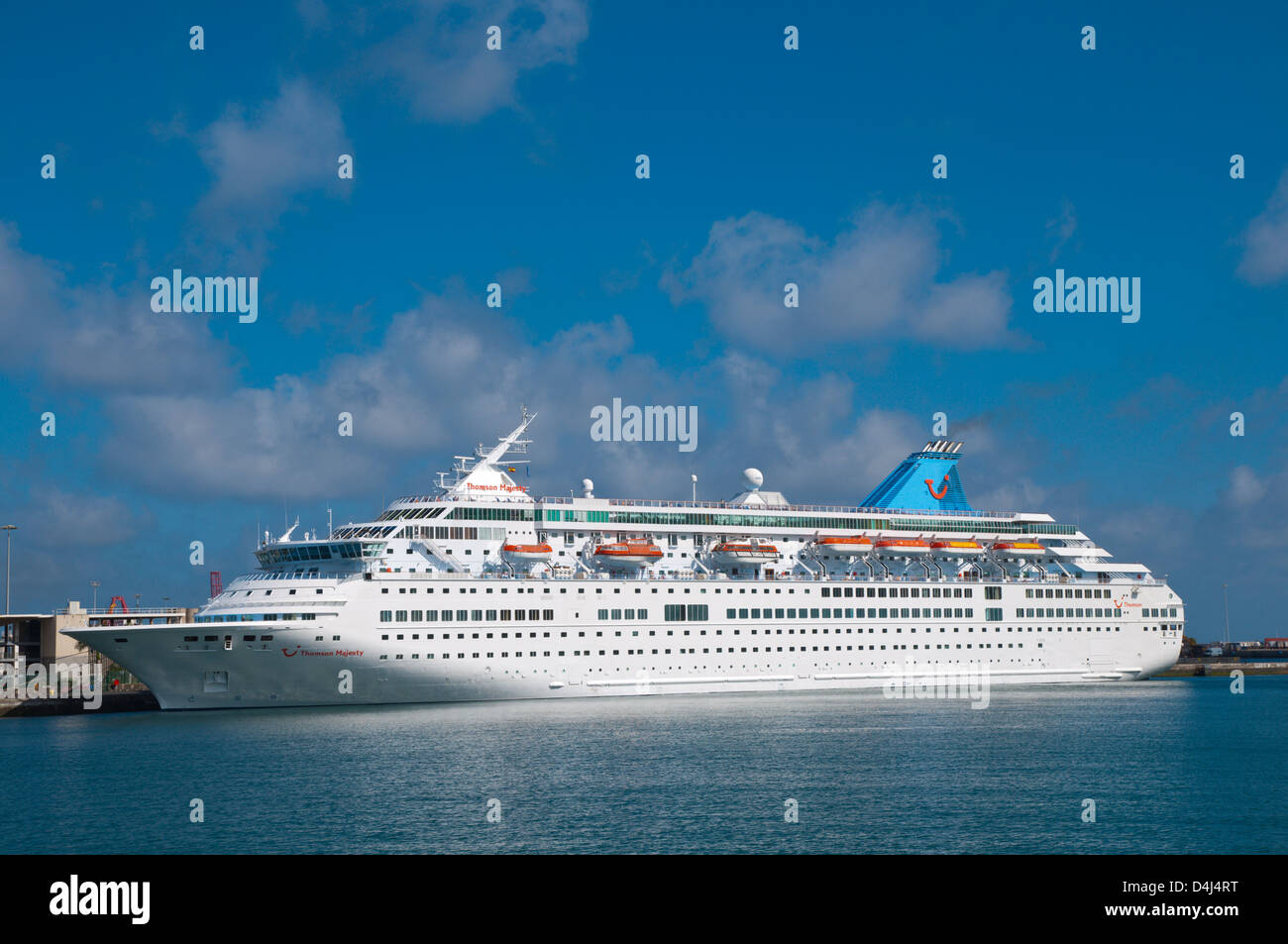 Passenger ferry at puerto la luz port las palmas de gran canaria city stock photo royalty free - Port of las palmas gran canaria ...