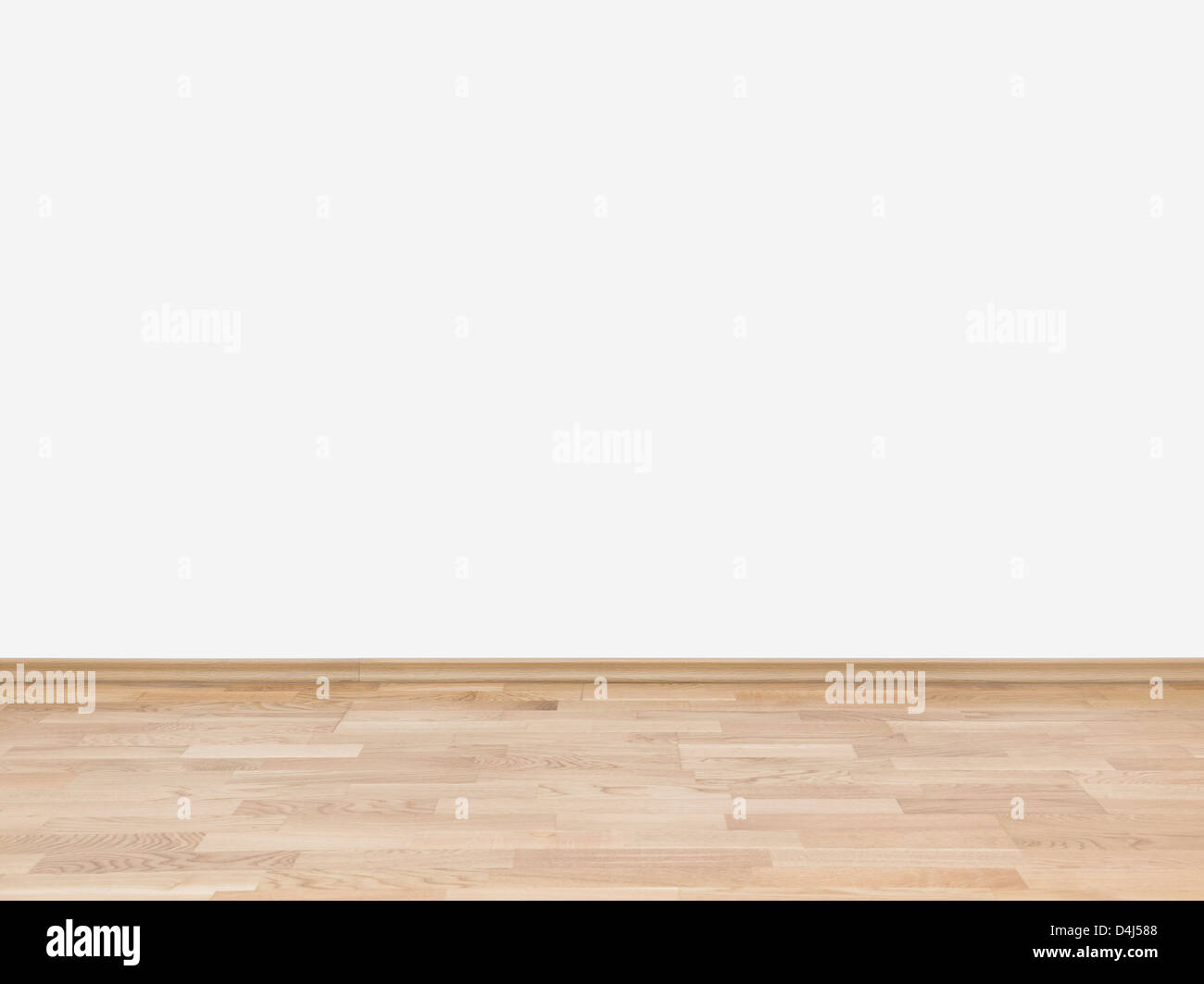 Background With An Empty White Wall With A Hardwood Wooden