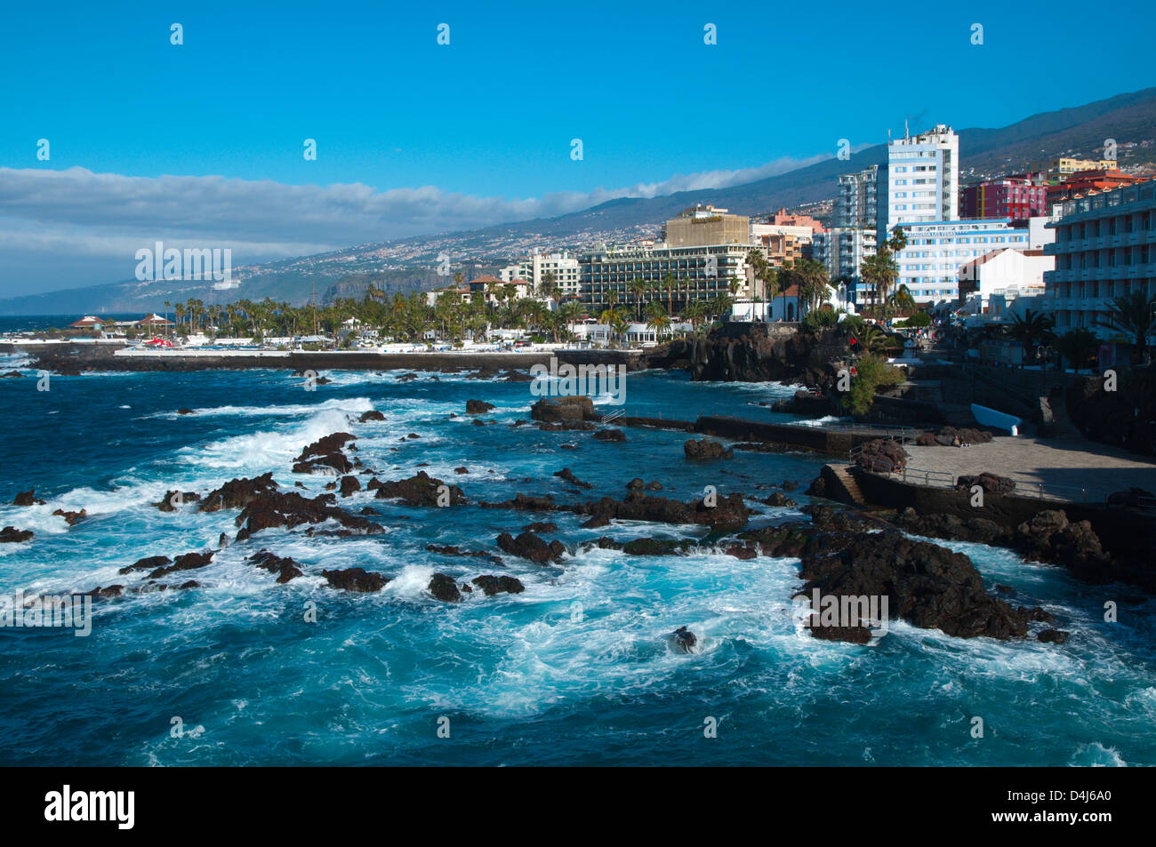 Playa san telmo beach puerto de la cruz city tenerife island the stock photo royalty free image - Playa puerto de la cruz tenerife ...