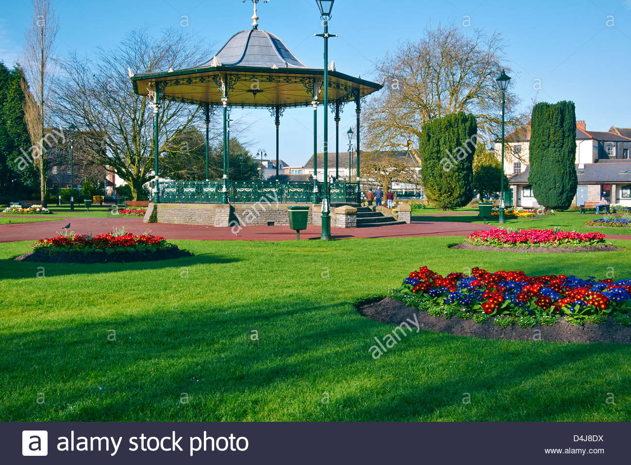 Victorian Bandstand In Victoria Gardens In Neath South