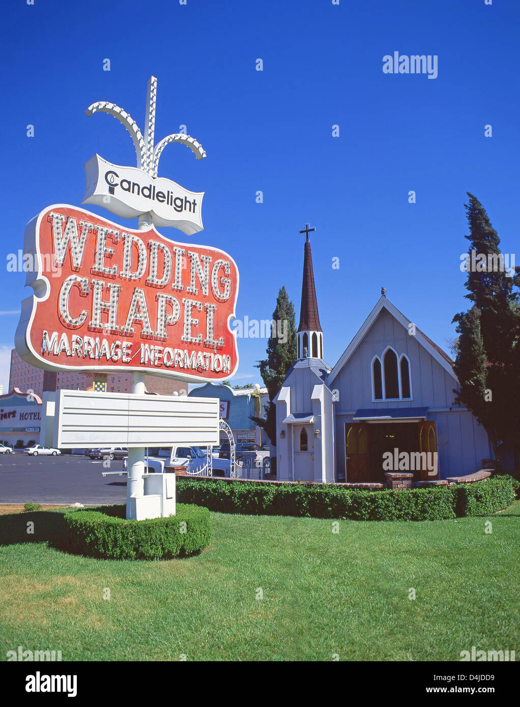 Candlelight Wedding Chapel On The Vegas Strip Las Vegas Nevada Stock Photo Royalty Free Image