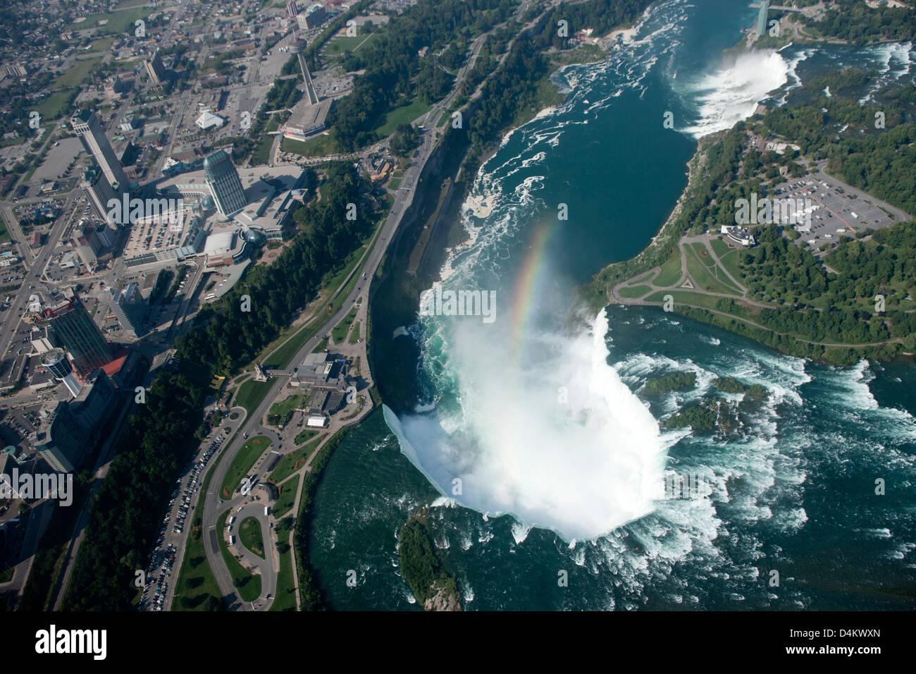 Niagara Falls At The Border Of Ontario Canada And New York Usa