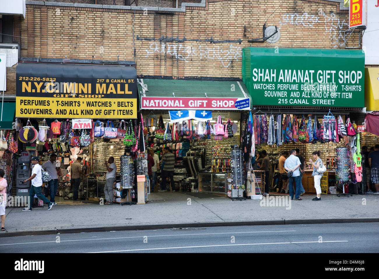 Souvenir shops including the NYC Mini Mall, National Gift Shop and ...