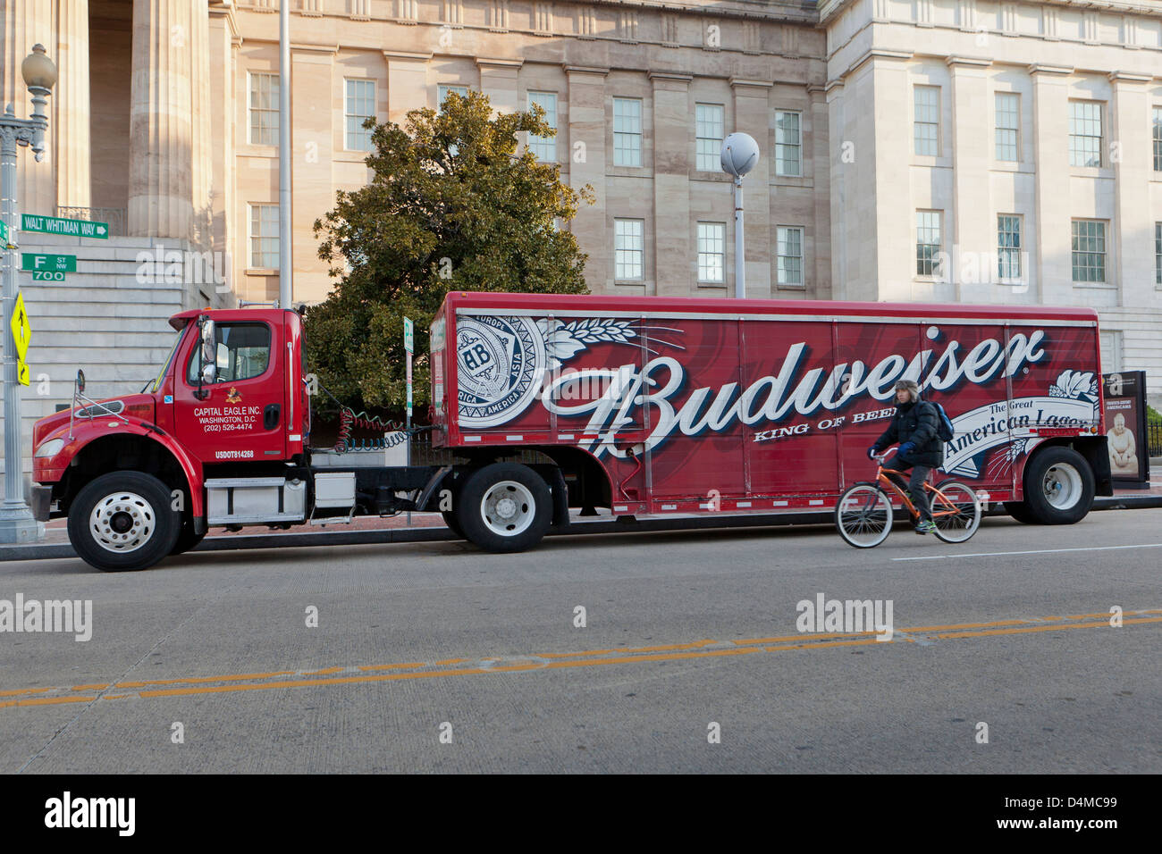 Budweiser Beer Delivery Truck Usa Stock Photo Royalty