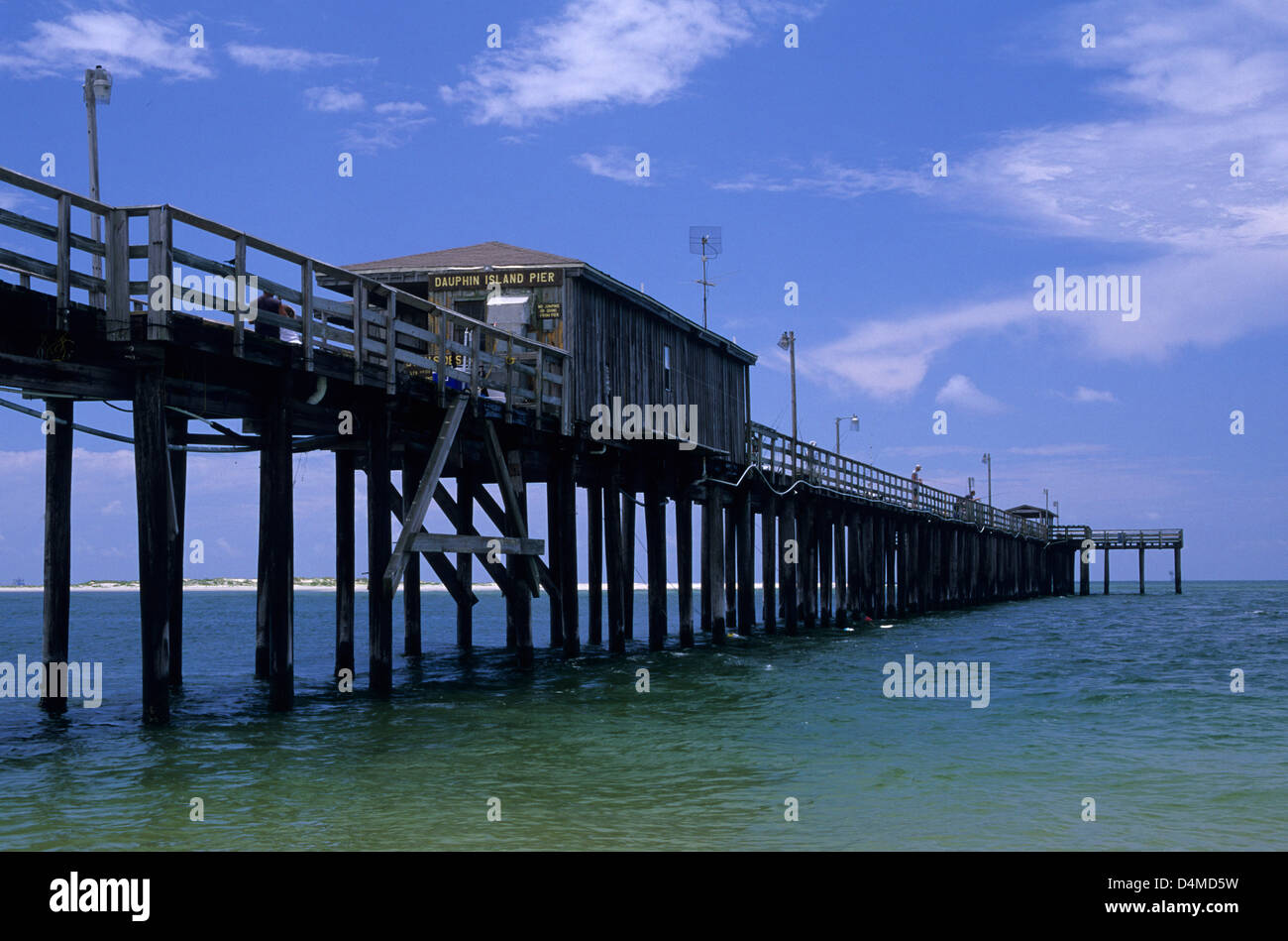 Dauphin island pier dauphin island alabama stock photo for Dauphin island fishing pier