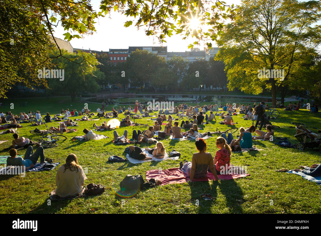 berlin germany people in the weinberg park stock photo royalty free image 54541077 alamy. Black Bedroom Furniture Sets. Home Design Ideas