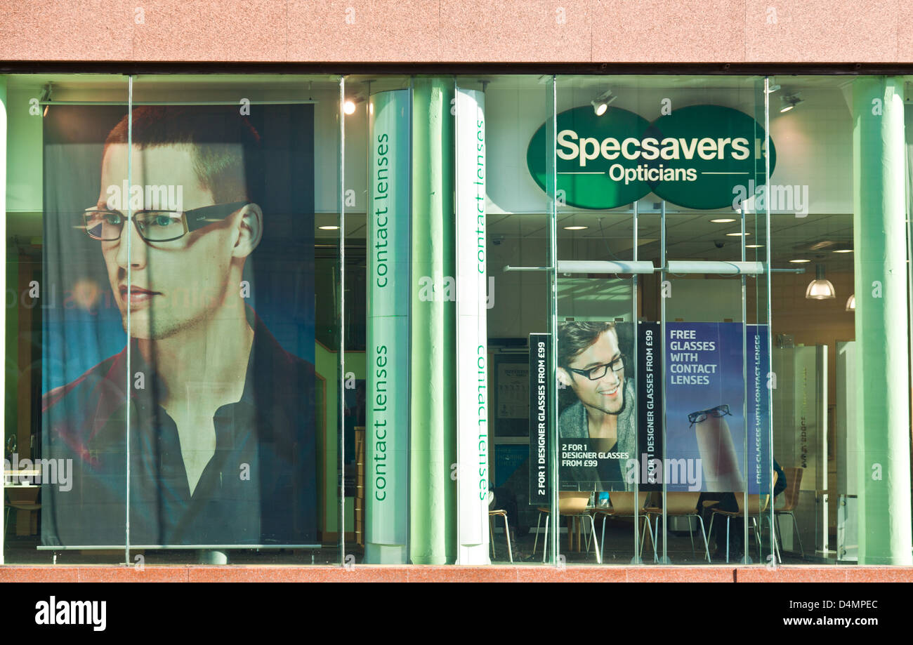 optician and uk stock photos optician and uk stock images alamy specsavers frontage in central glasgow an opticians chain posters in the window