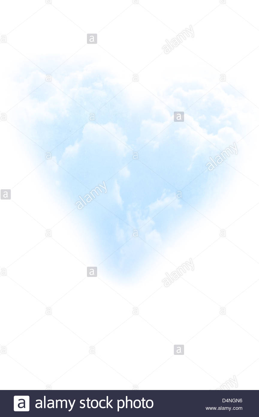 Blue Sea Under Clouds Sky Heart Stock Photo 125440220 - Shutterstock