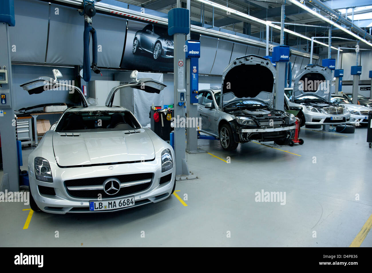 Affalterbach germany mercedes amg workshop stock photo for Mercedes benz car shop